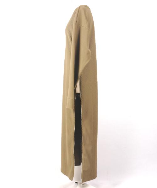 hs17AW-IR02 velour sidezip onepiece