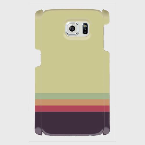 レトロストライプ(薄緑・薄水・橙・赤・紺)/Androidスマホケース(ハードケース)