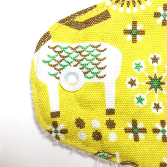 北欧トナカイ・イエロー*ホルダー型布ナプキン*ロングサイズ