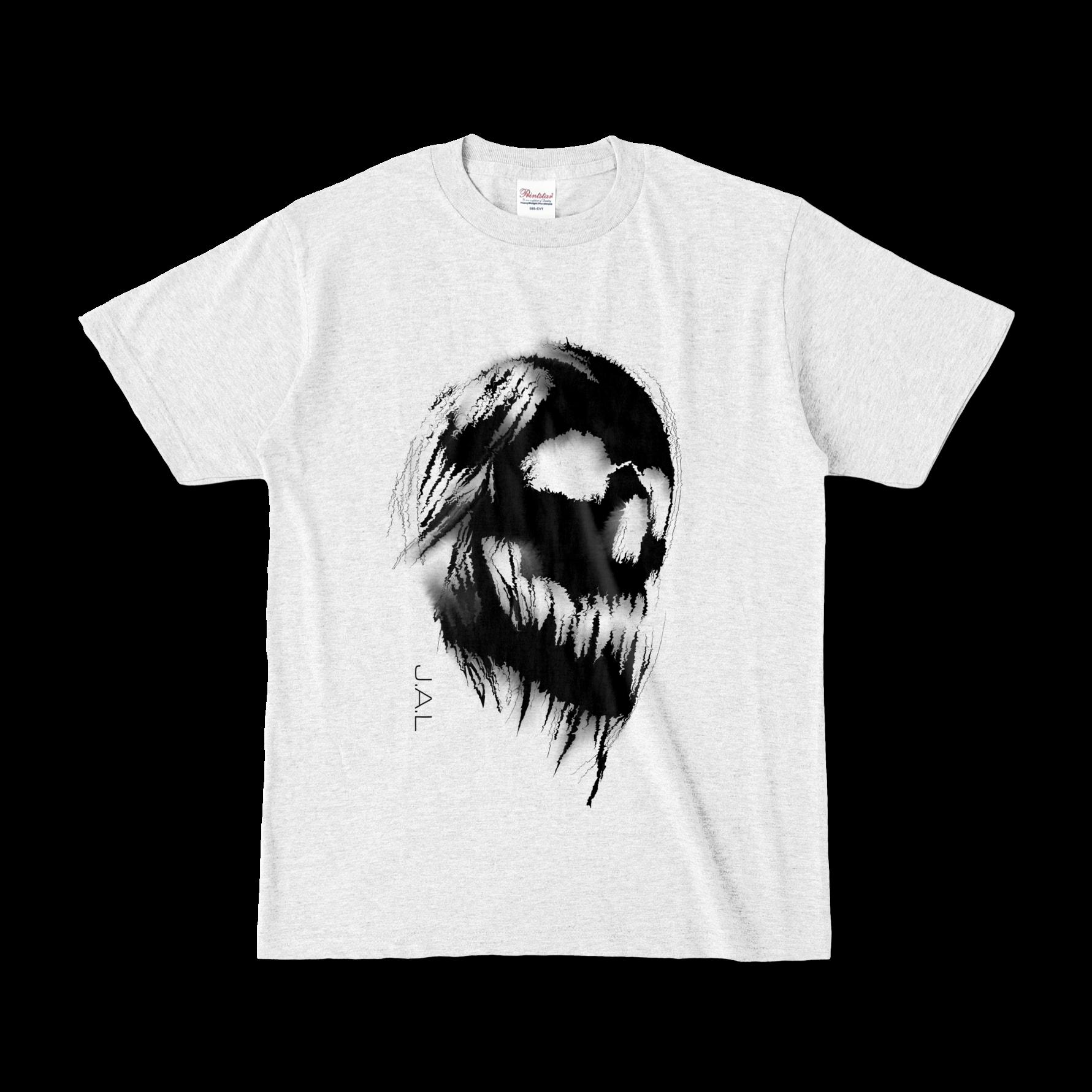 SKULL オリジナルデザインTシャツ アッシュ