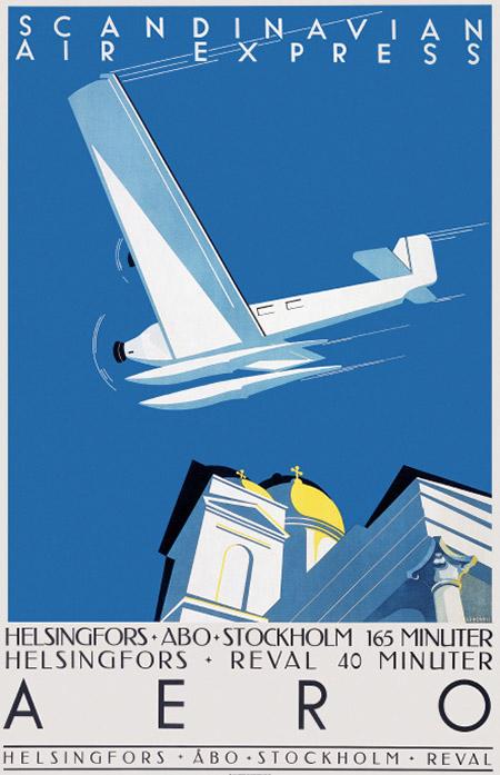 レトロポスター 50x70 「アエロ」1933年