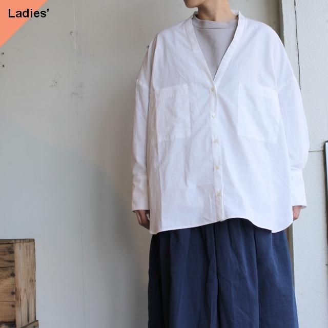 THE FACTORY タイプライターカーディガンシャツ TF2010105 ホワイト