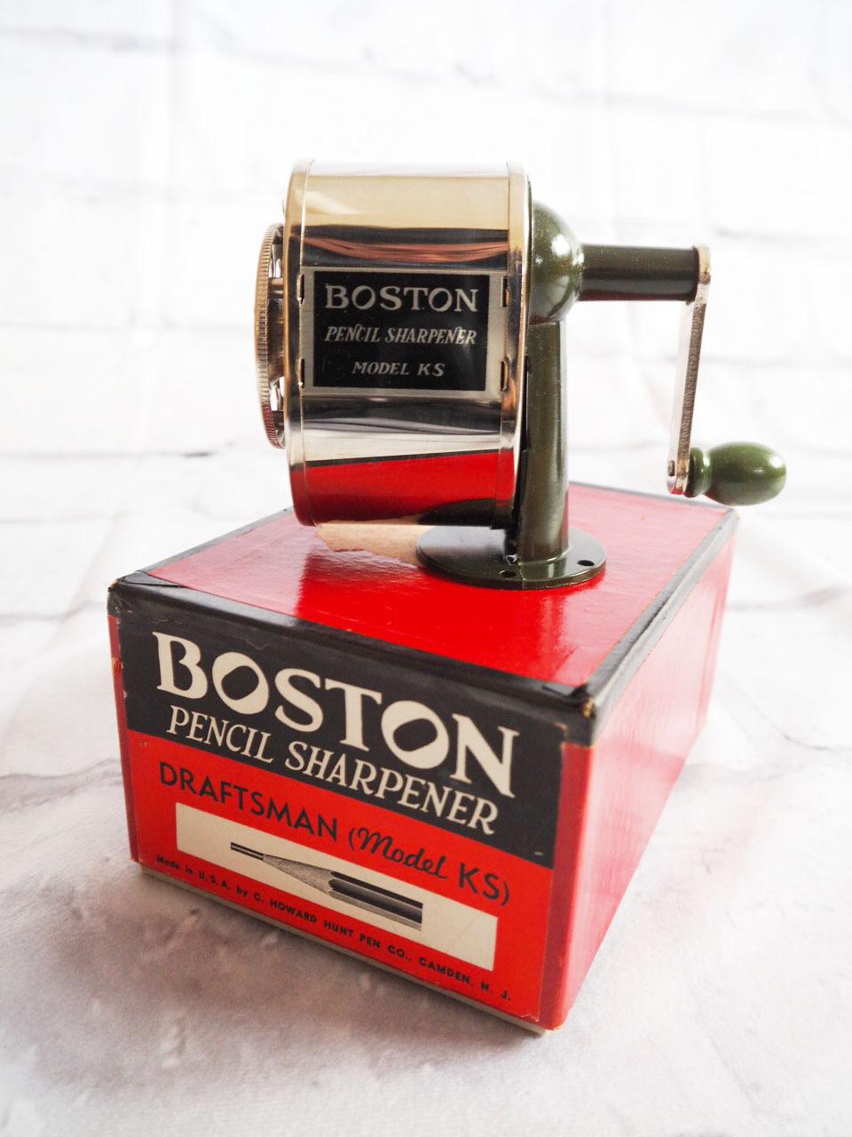 品番0912 BOSTON MODEL KS ペンシルシャープナー 鉛筆削り 元箱付 ヴィンテージ