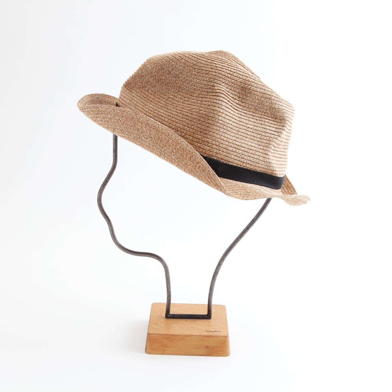 mature ha./BOXED HAT 103 mixbrown×black