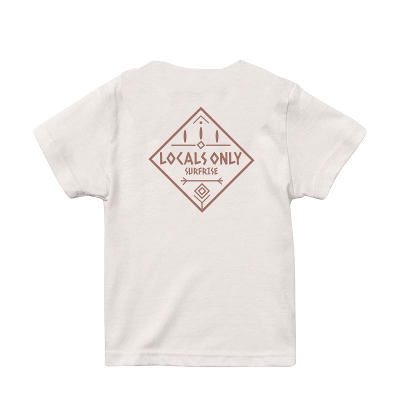 【予約:6月上旬〜中旬発送】★Kids★ LOCALS ONLY Tee - Vanilla white / Baked pink