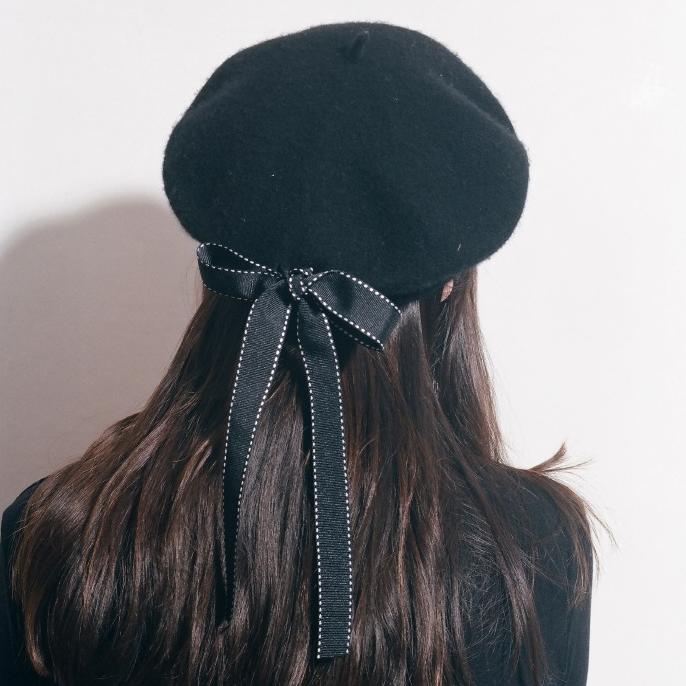 【送料無料 】リボンが可愛い ♡ ガーリー フェミニン おしゃれ ベレー帽 ハット 小物
