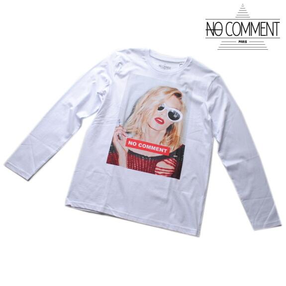NO COMMENT PARIS ノーコメント パリ Tシャツ 長袖 クルーネック ロンT メンズ 正規販売店 LTN163 ホワイト