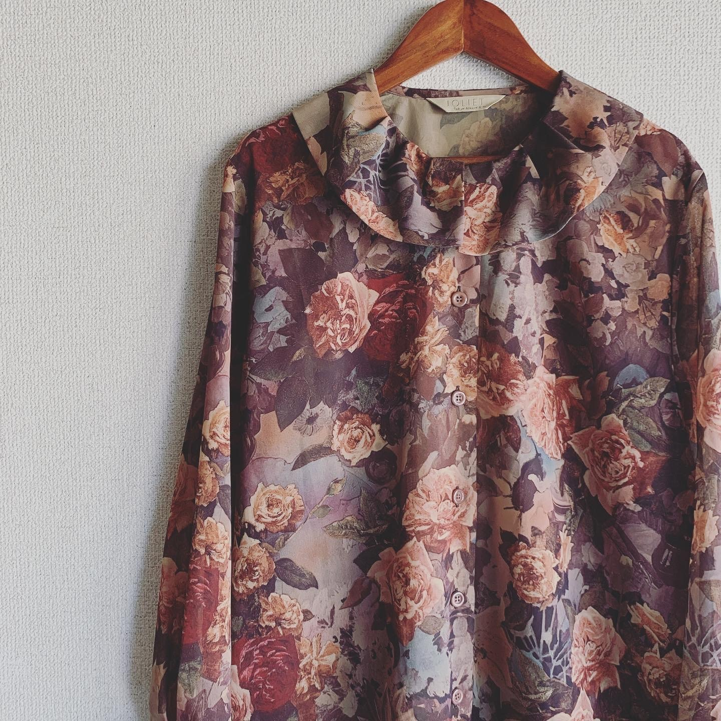 vintage see-through flower design tops