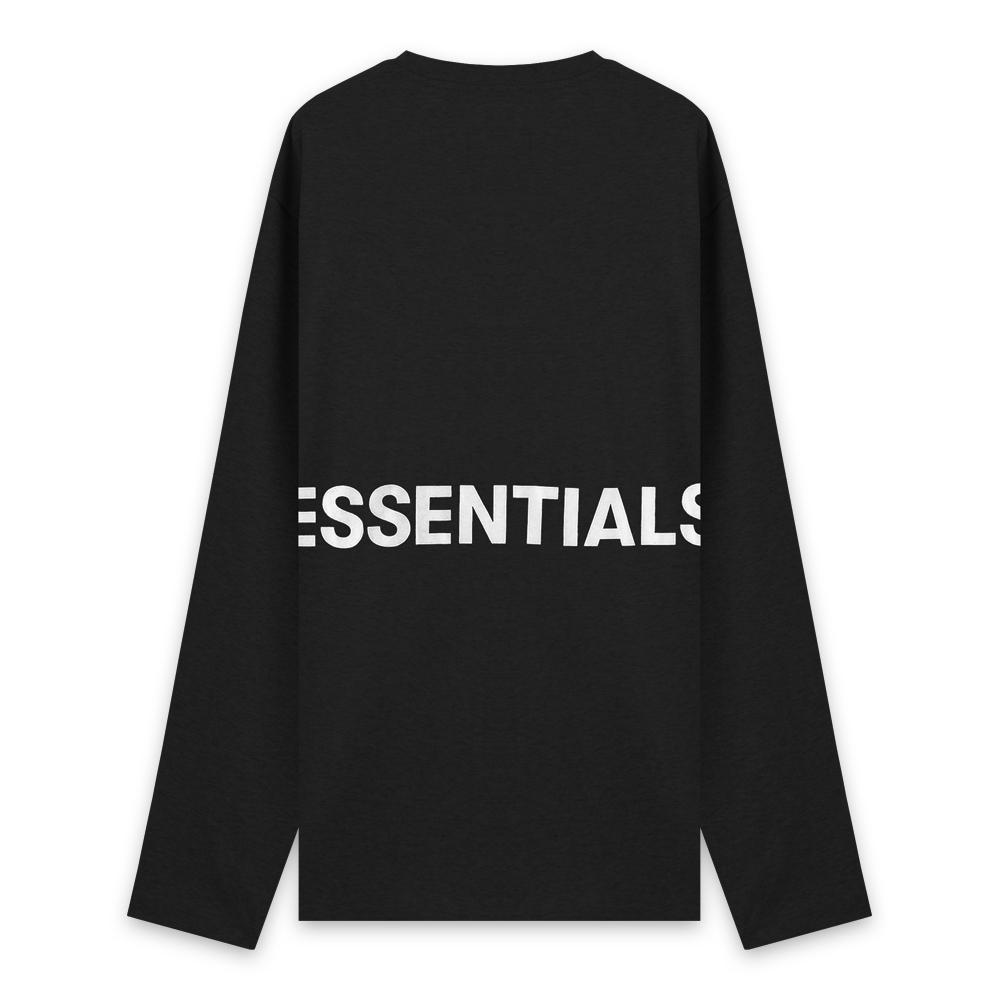 FOG ESSENTIALS / Boxy Graphic Long Sleeve T-Shirt / BLACK 2019 SS