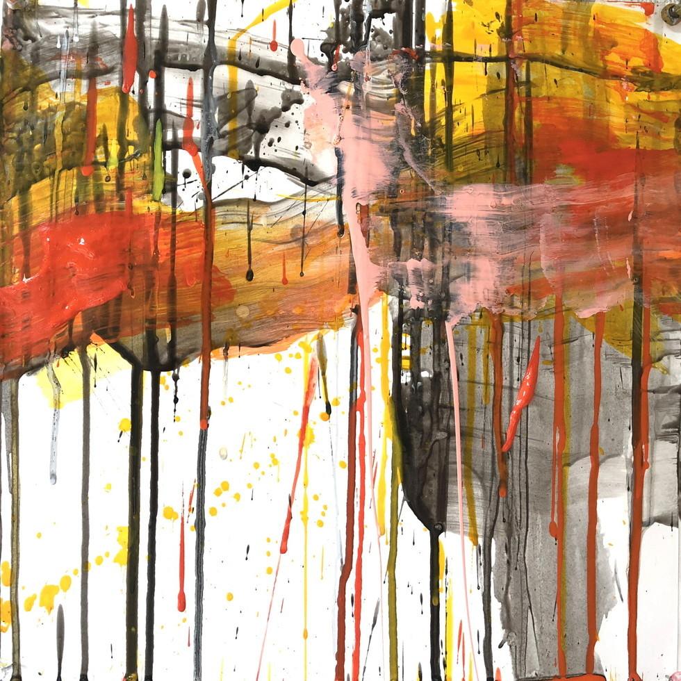絵画 インテリア アートパネル 雑貨 壁掛け 置物 おしゃれ 抽象画 現代アート ロココロ 画家 : tamajapan 作品 : t-26  /  tamajapan