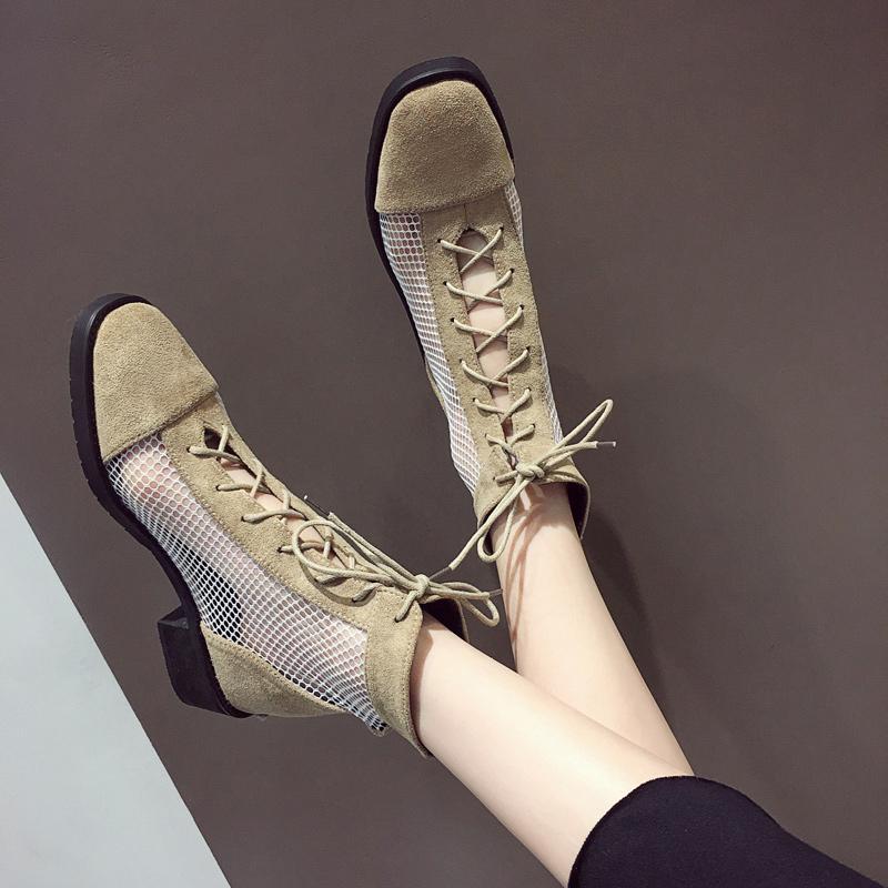 【shoes】カジュアル透かし彫り合わせやすいブーツ22857527