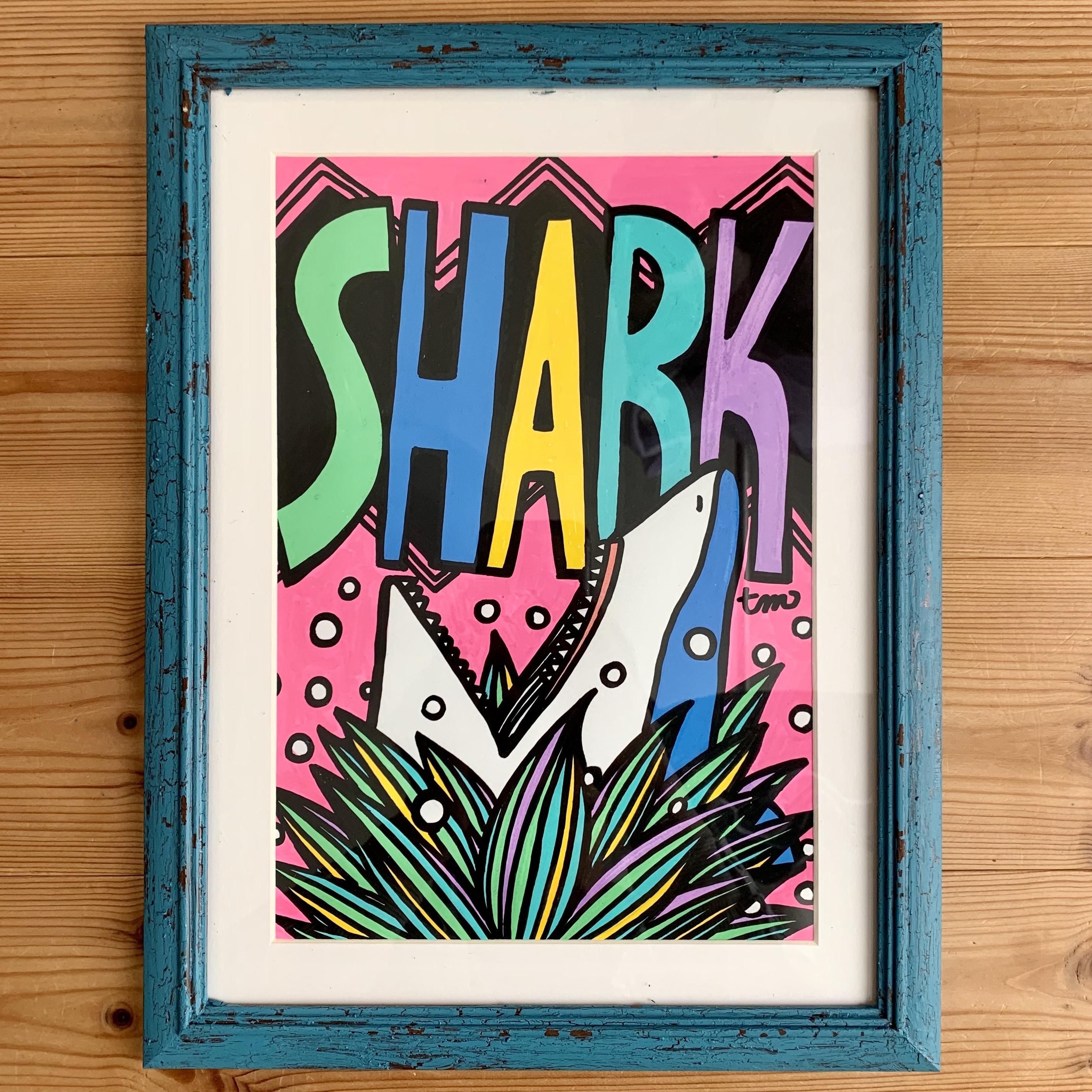 【原画】Shark(A4/フレーム付)