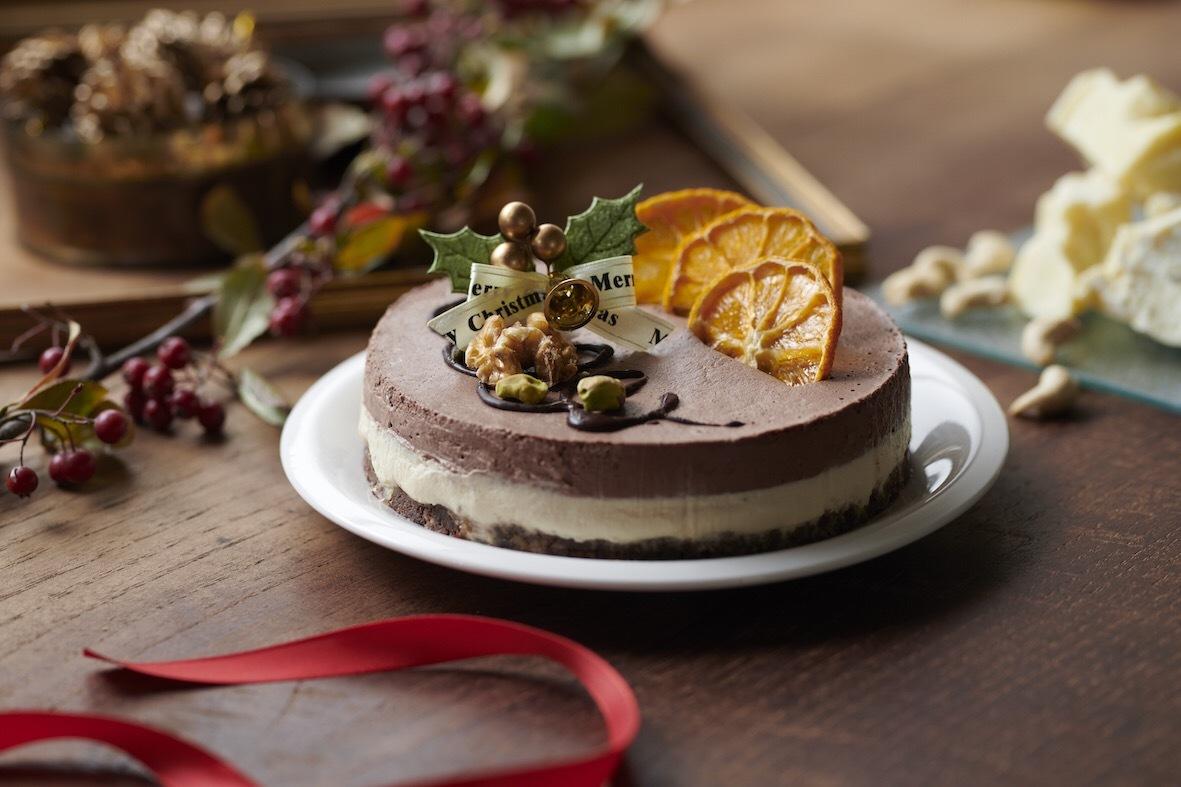 【12cm】ヴィーガンオレンジ&チョコレートケーキ《卵・乳製品・小麦不使用 冷凍》