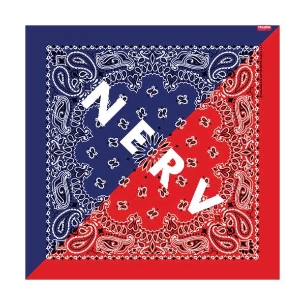 NERV SPLIT PAISLEYS BANDANA (ブルー×レッド)  / RADIO EVA
