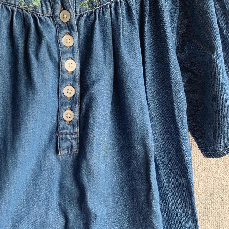 【SALE】vintage denim embroidery tops