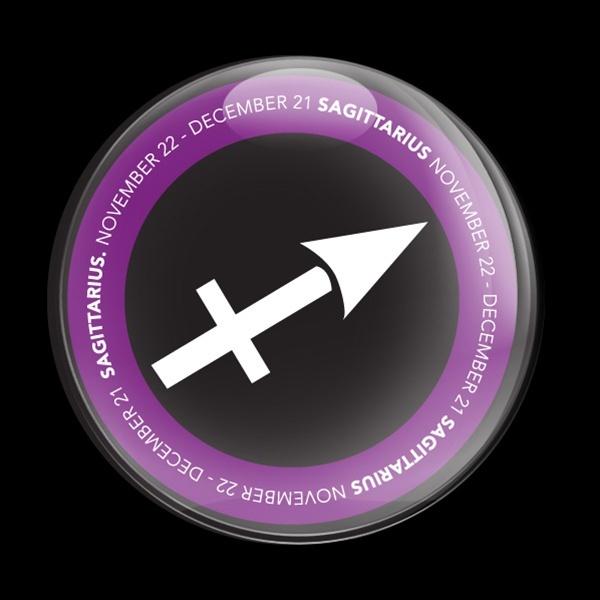 ゴーバッジ(ドーム)(CD0052 - ASTROLOGY SAGITTARIU) - 画像1