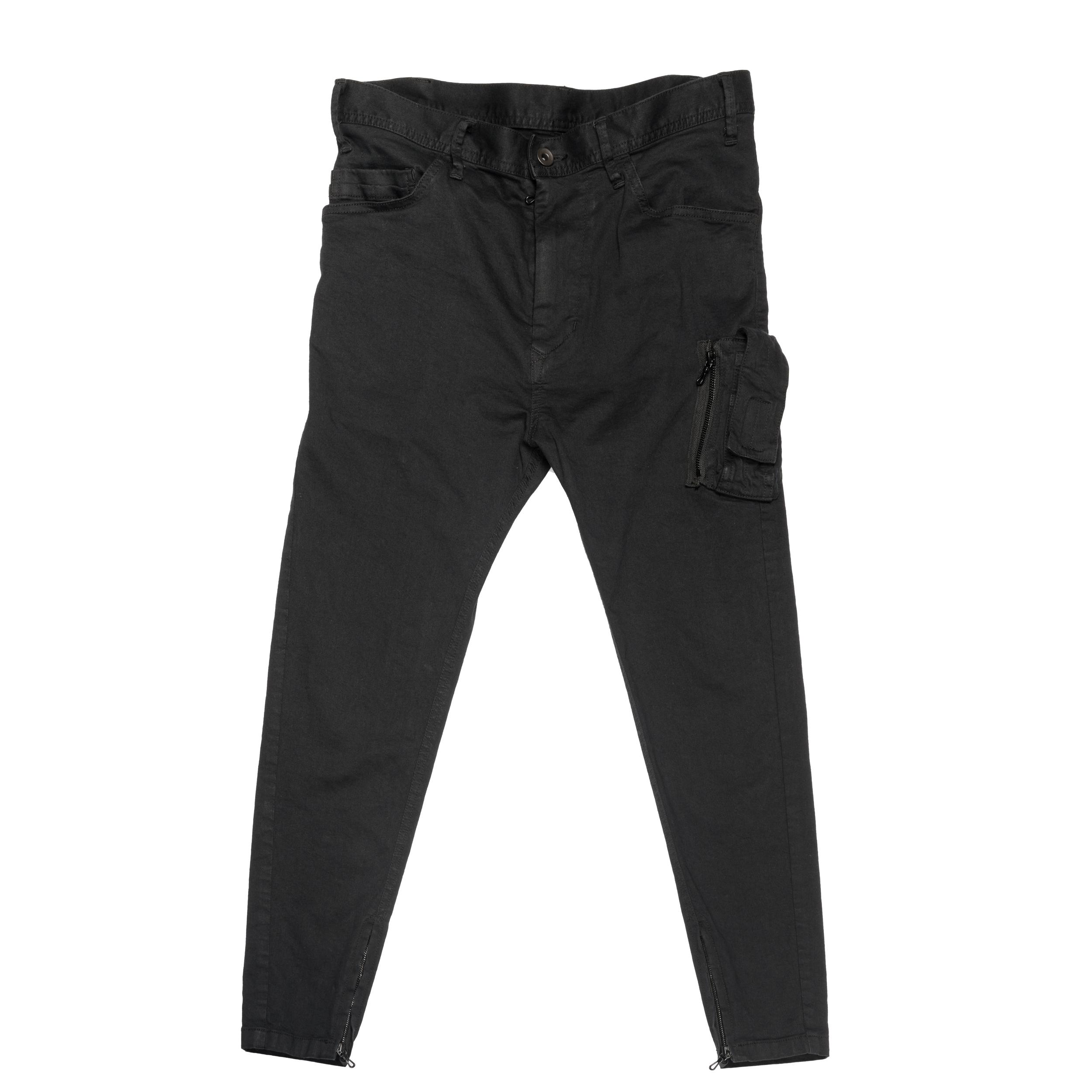 667PAM7-BLACK / MA-1 ポケットスキニーパンツ