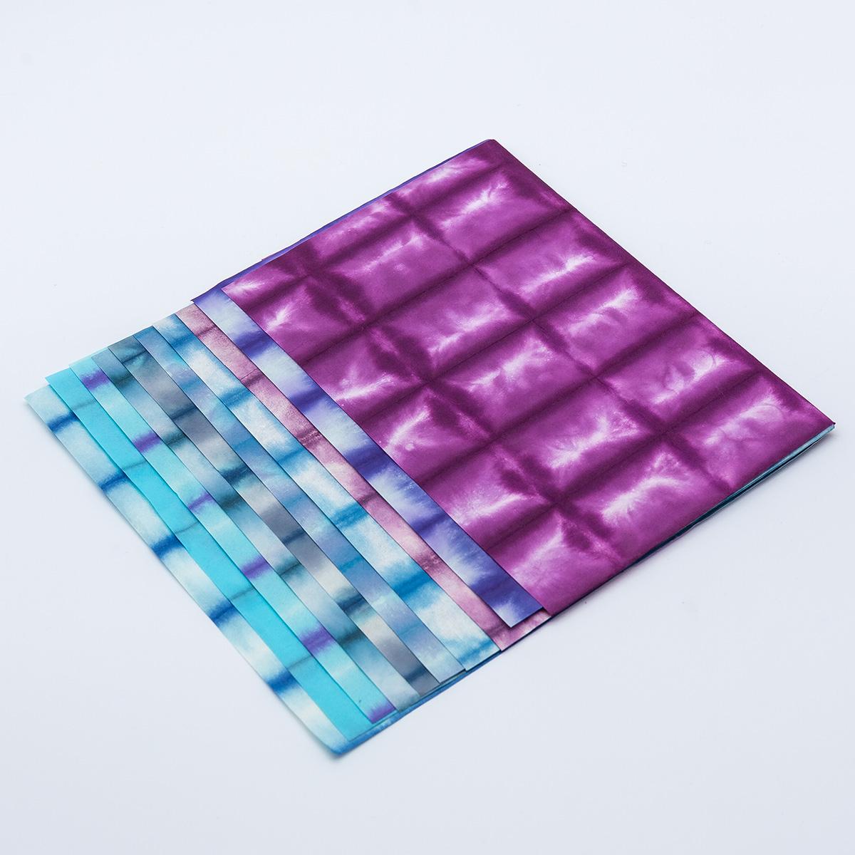 阿波 板締め紙 八ツ切り10色セット(青・紫系)