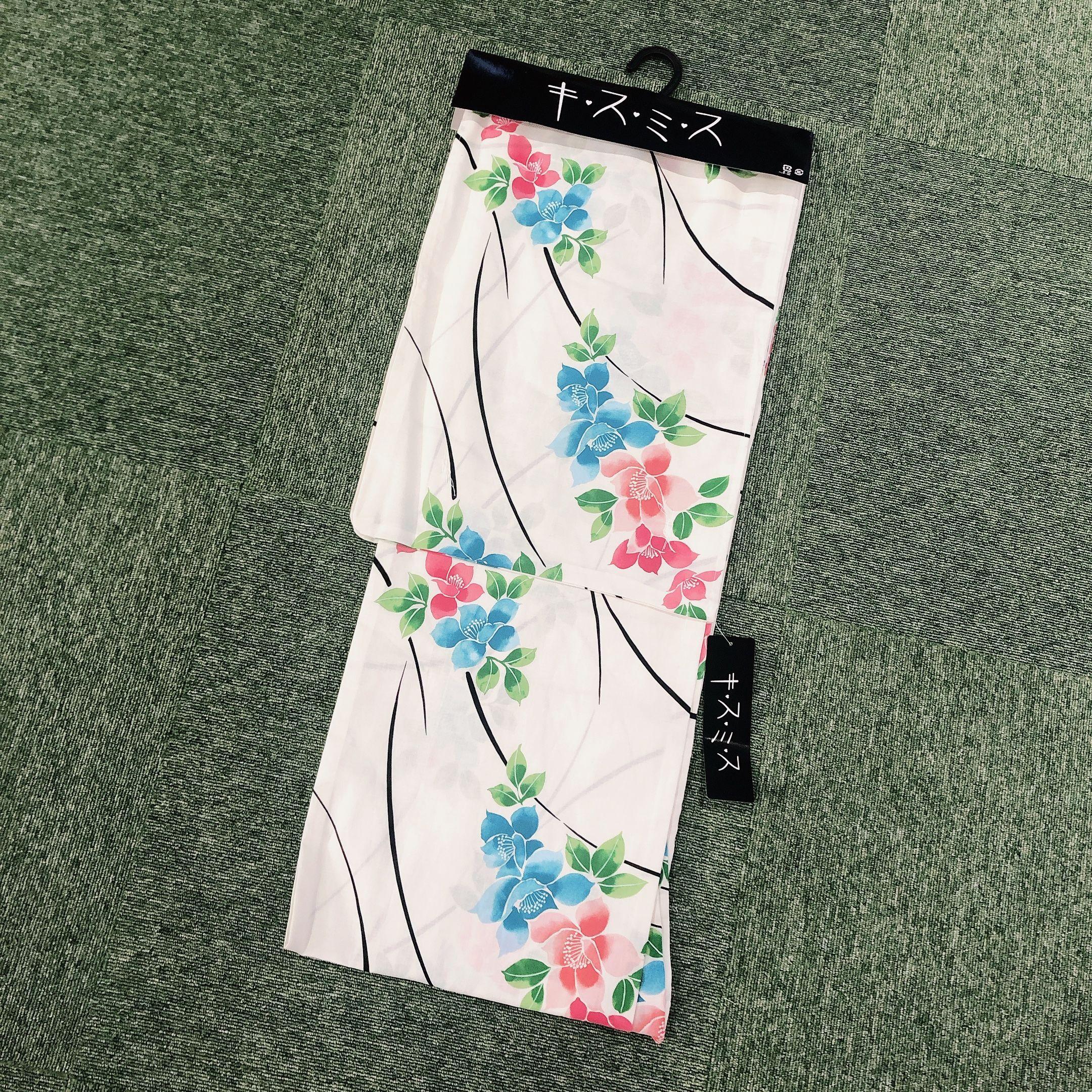 浴衣 レディース 単品 キスミス ブランド <白地に花柄> Yukata