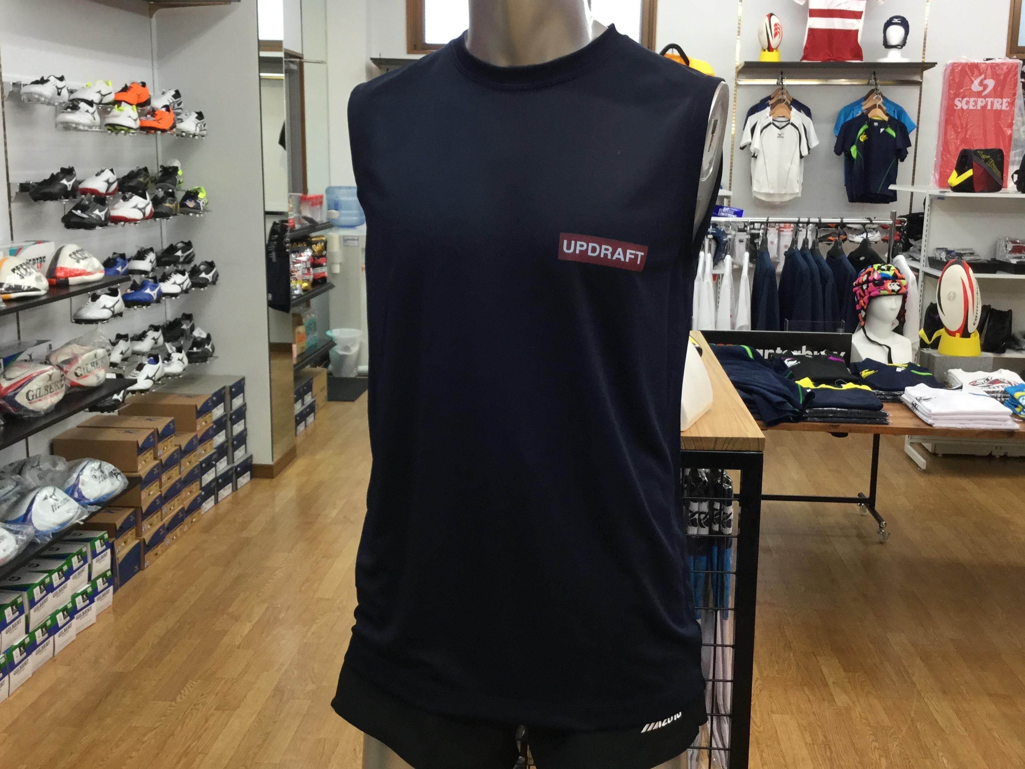 オリジナルTシャツ ノースリーブ ネイビー(ポリエステル100% シルキータッチ)