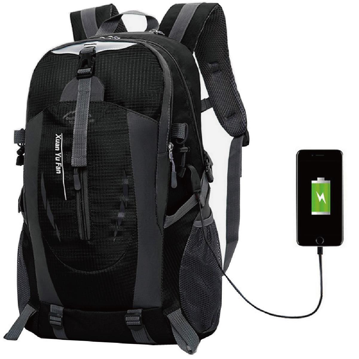 FOX FOUND リュック 大容量 USB充電ポート バックパック メンズ 15.6インチノートPC収納 登山 防水 アウトドア