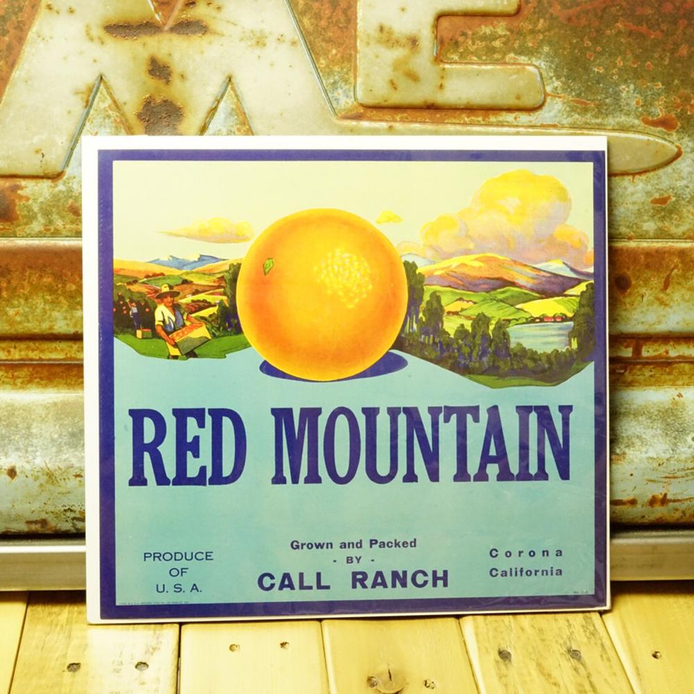 ヴィンテージ カリフォルニアフルーツ 木箱ラベル No.016