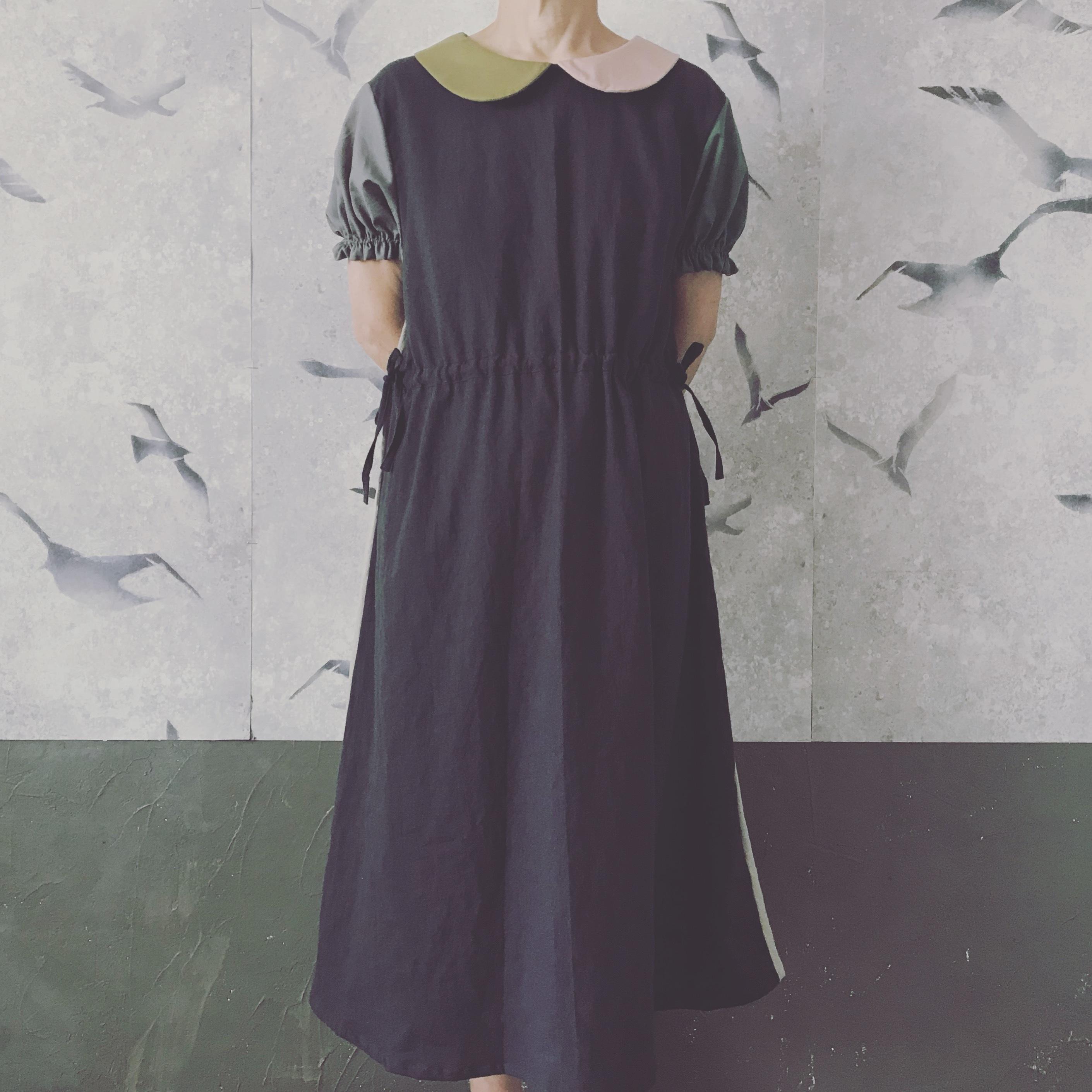 【お教室】03大人size palette丸襟ワンピース