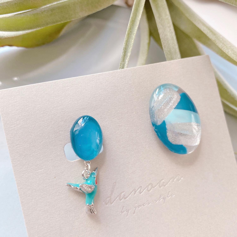""""""" Earrings NO.danoan-86″ アシメハチドリ"""