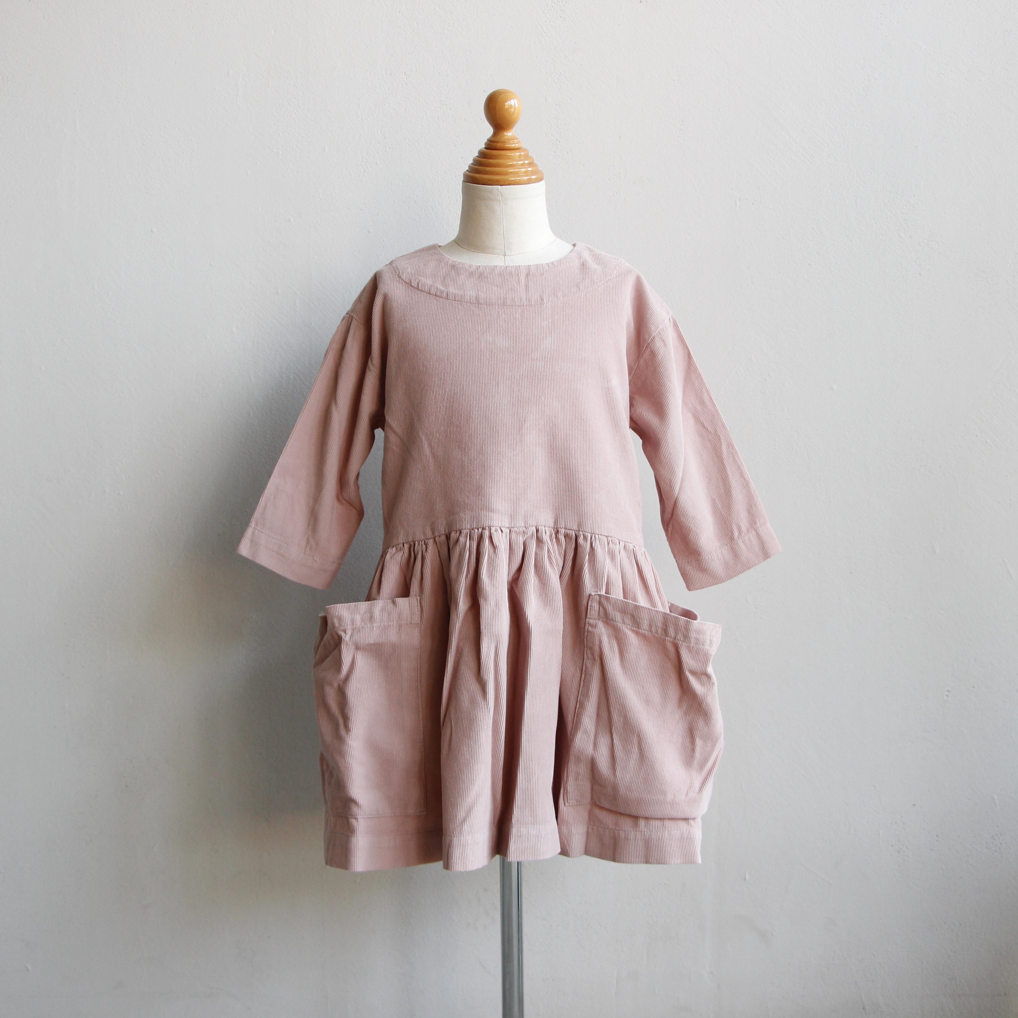 《AS WE GROW 2020AW》Pocket Dress long sleeve / Pink