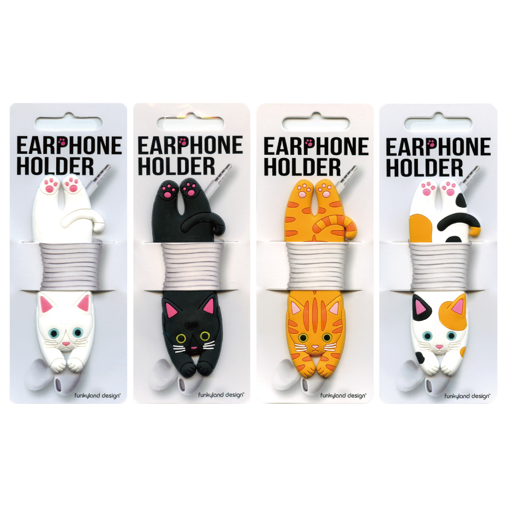 猫イヤホンホルダー(コードホルダーキャット)