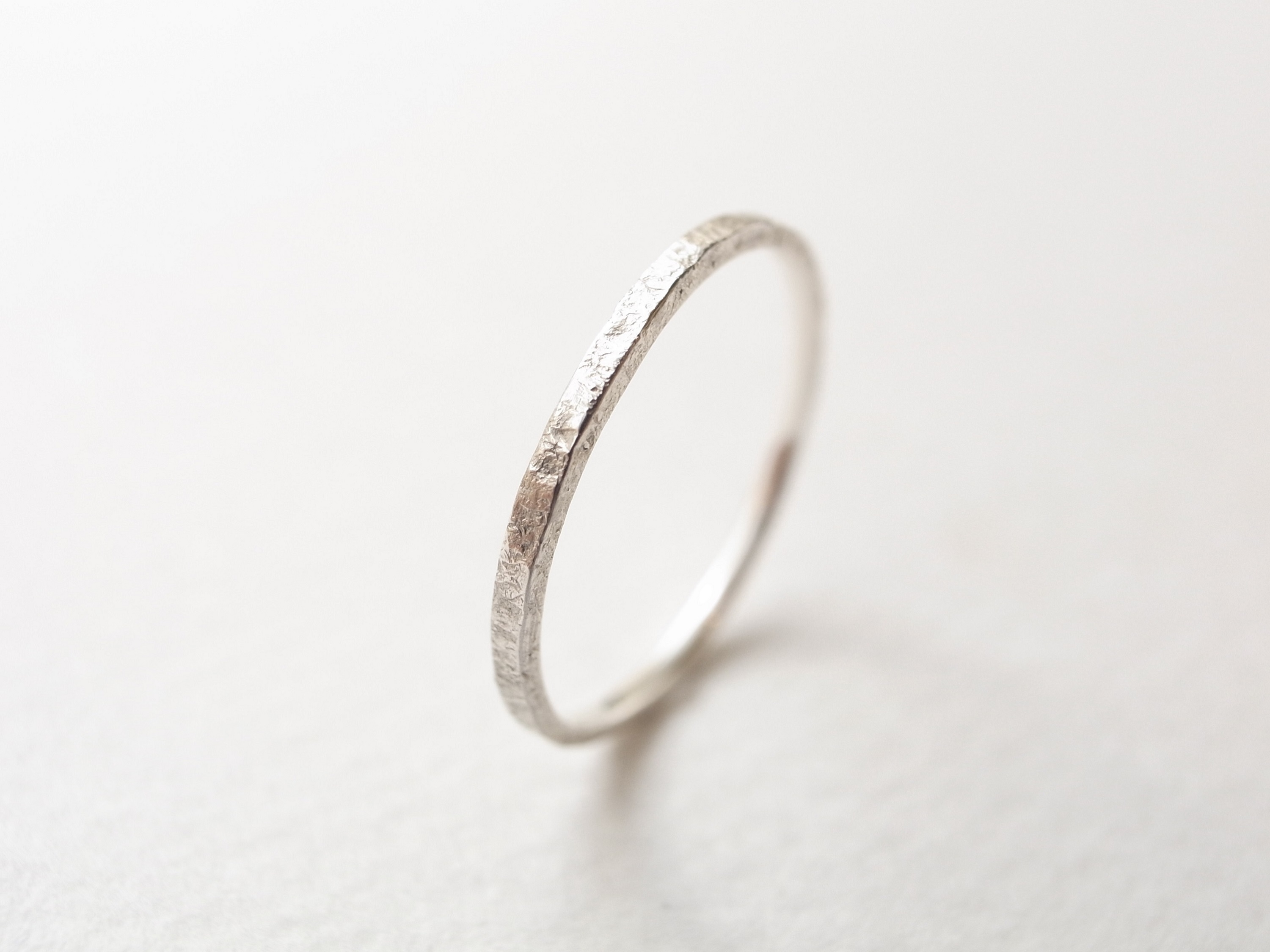 silver950/stone texture ring