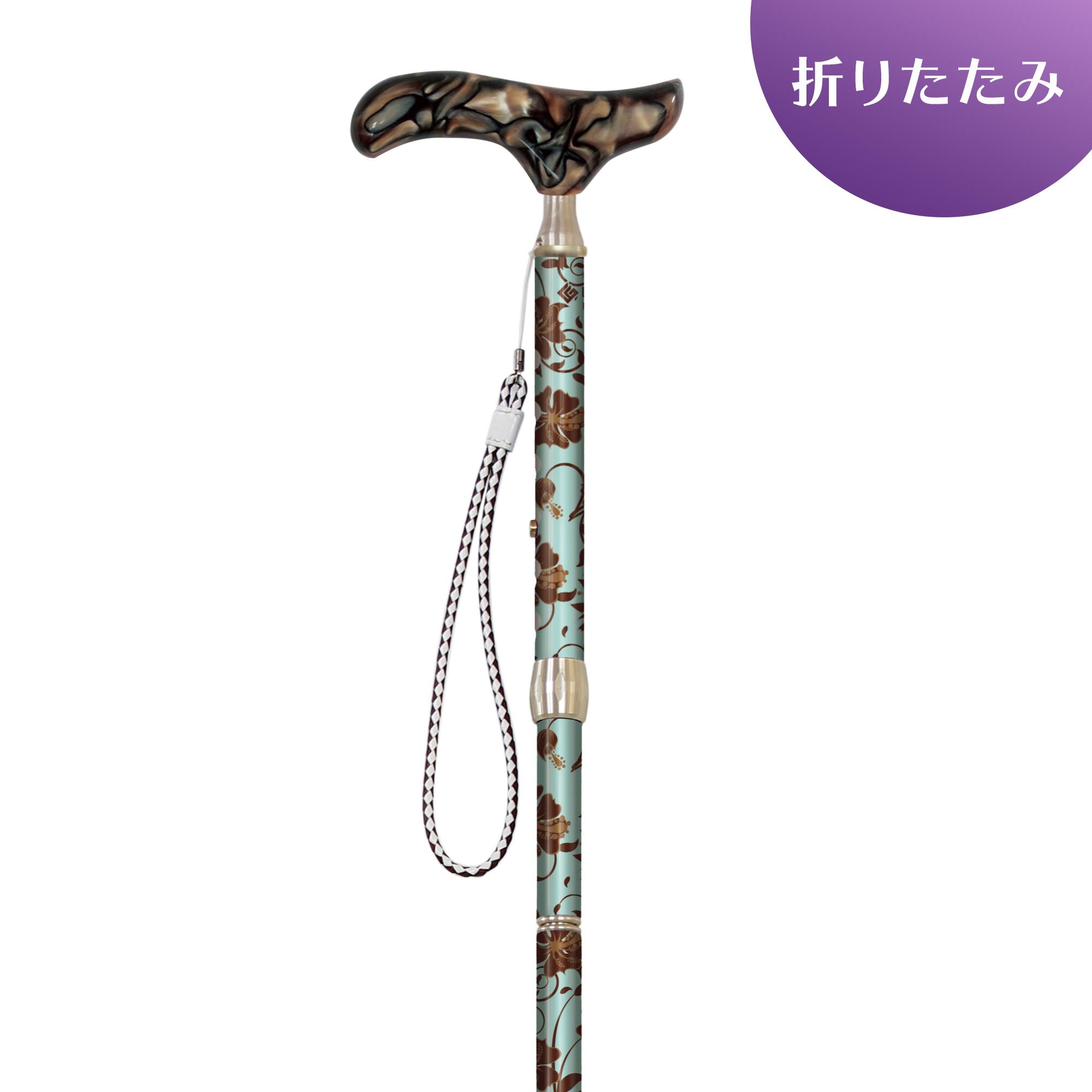 4段折畳式伸縮杖シナノ グランドカイノス ドンナ(アルストロメリア)