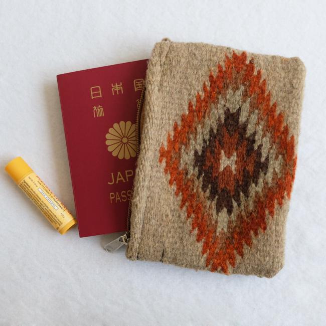 ネイティブ柄羊毛ポーチ /281f/ MEXICO メキシコ