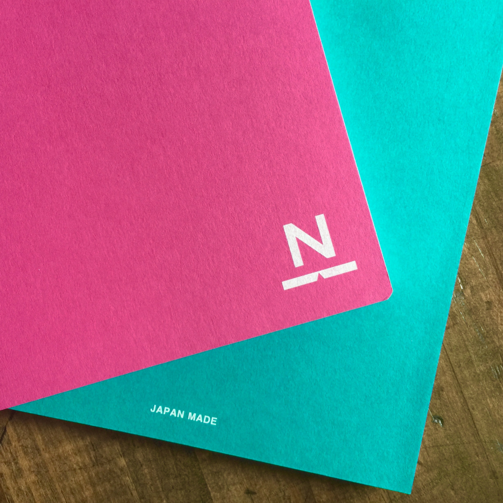 ノンブルノート「N」(03)ホットピンク×ピーコックグリーン(※2020マンスリー付)