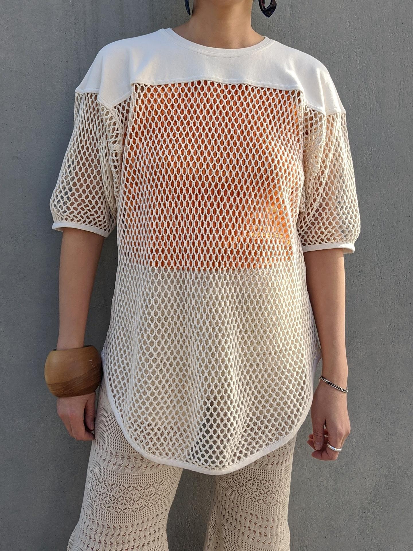 Cotton Net Tee - IVORY