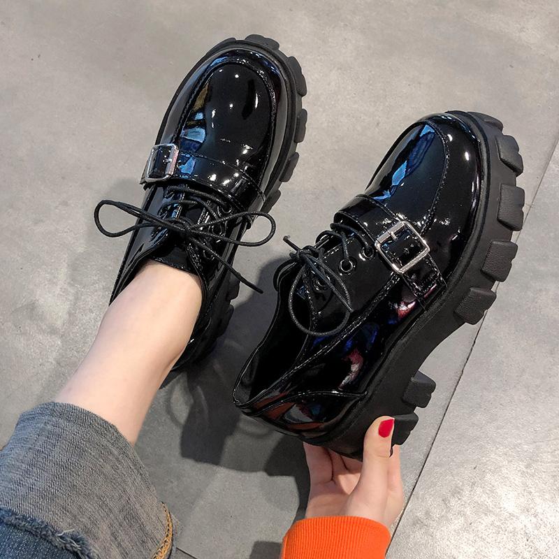 【shoes】切り替えハイヒール合わせやすいフラットシューズ26705849