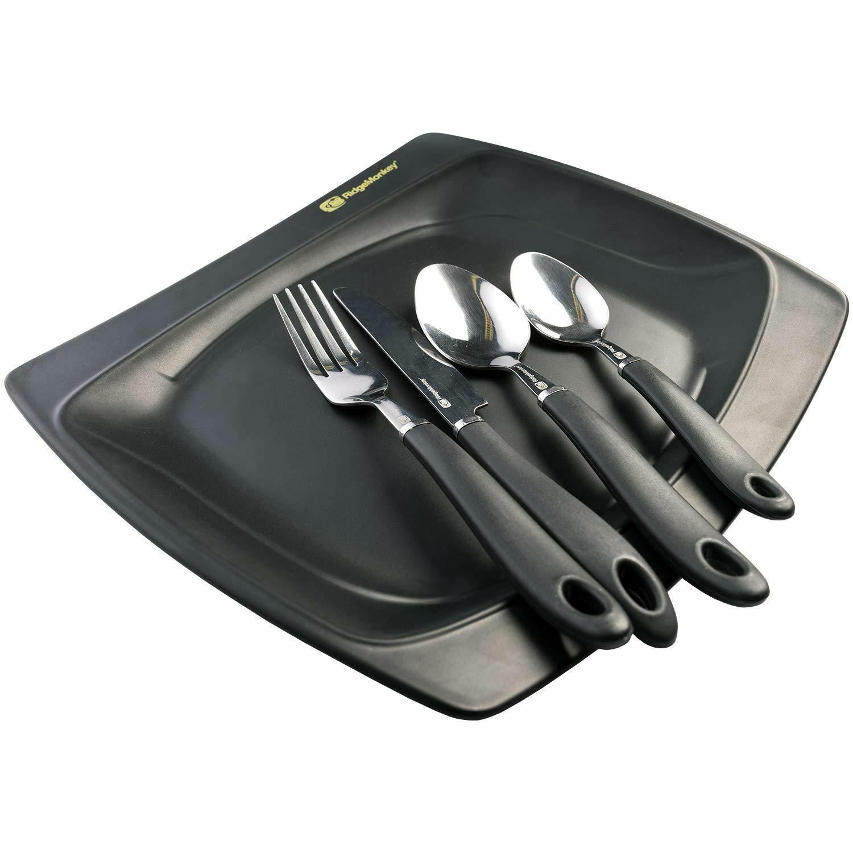 Ridgemonkey SQ DLX Melamine Large Plate Set