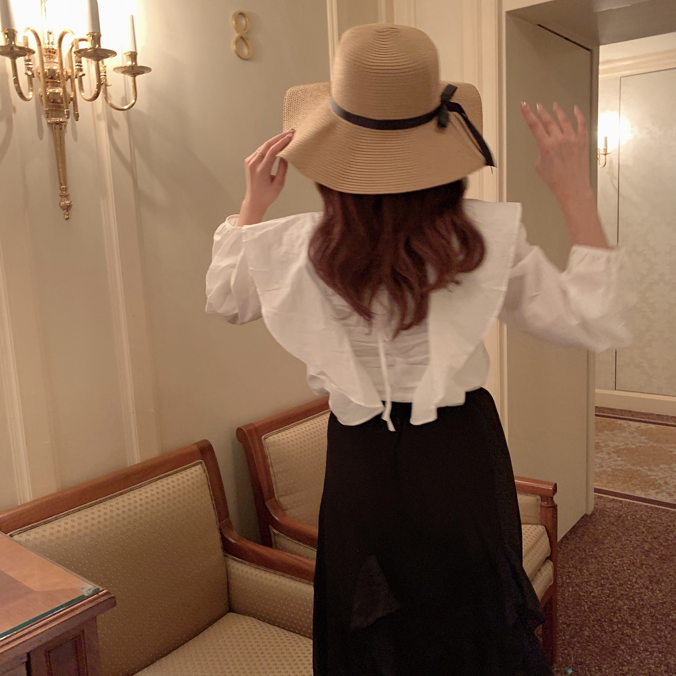 5/26 RESTOCK wing frill blouse
