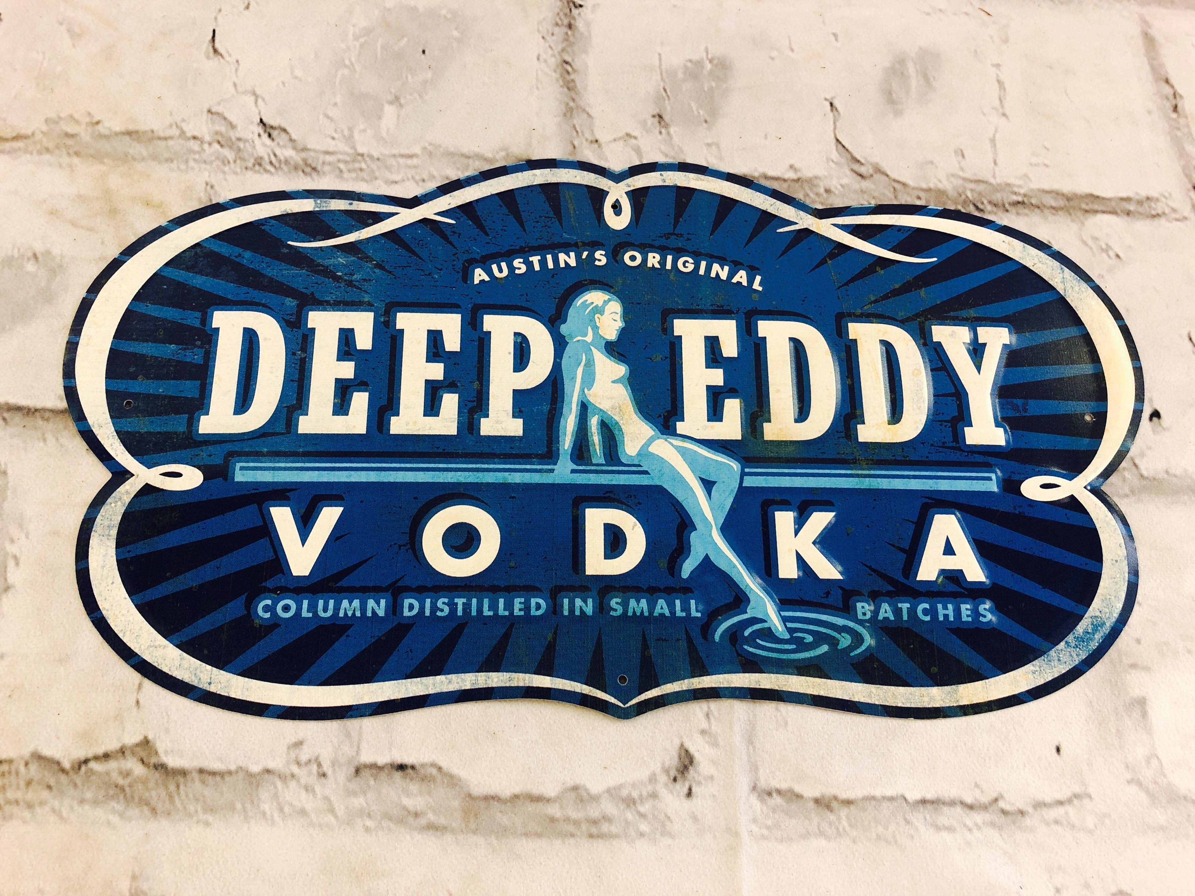 品番0422 サインプレート 『DEEP EDDY VODKA』 ディープエディ・ウォッカ スチール製 011