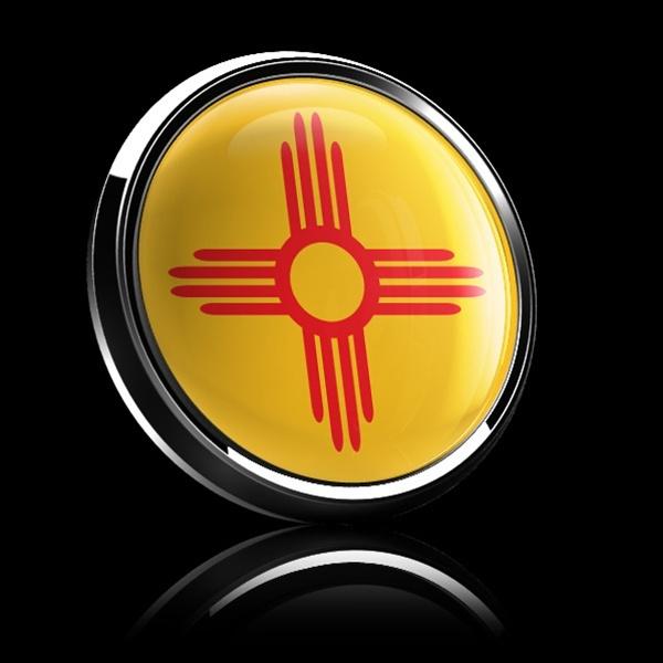ゴーバッジ(ドーム)(CD0586 - FLAG NEW MEXICO US STATE) - 画像2