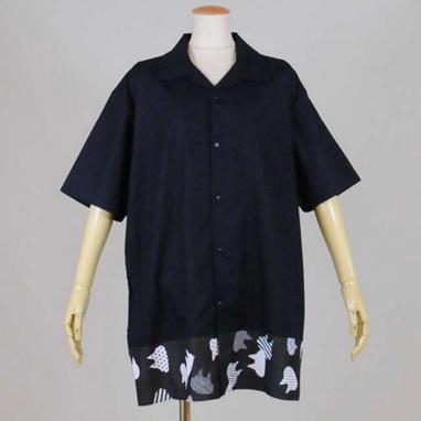 ビッグオープンカラーシャツ NV