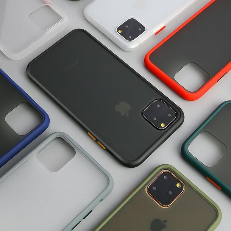 【お取り寄せ商品、送料無料】5カラー 無地 バイカラー マット ハード iPhoneケース iPhone11