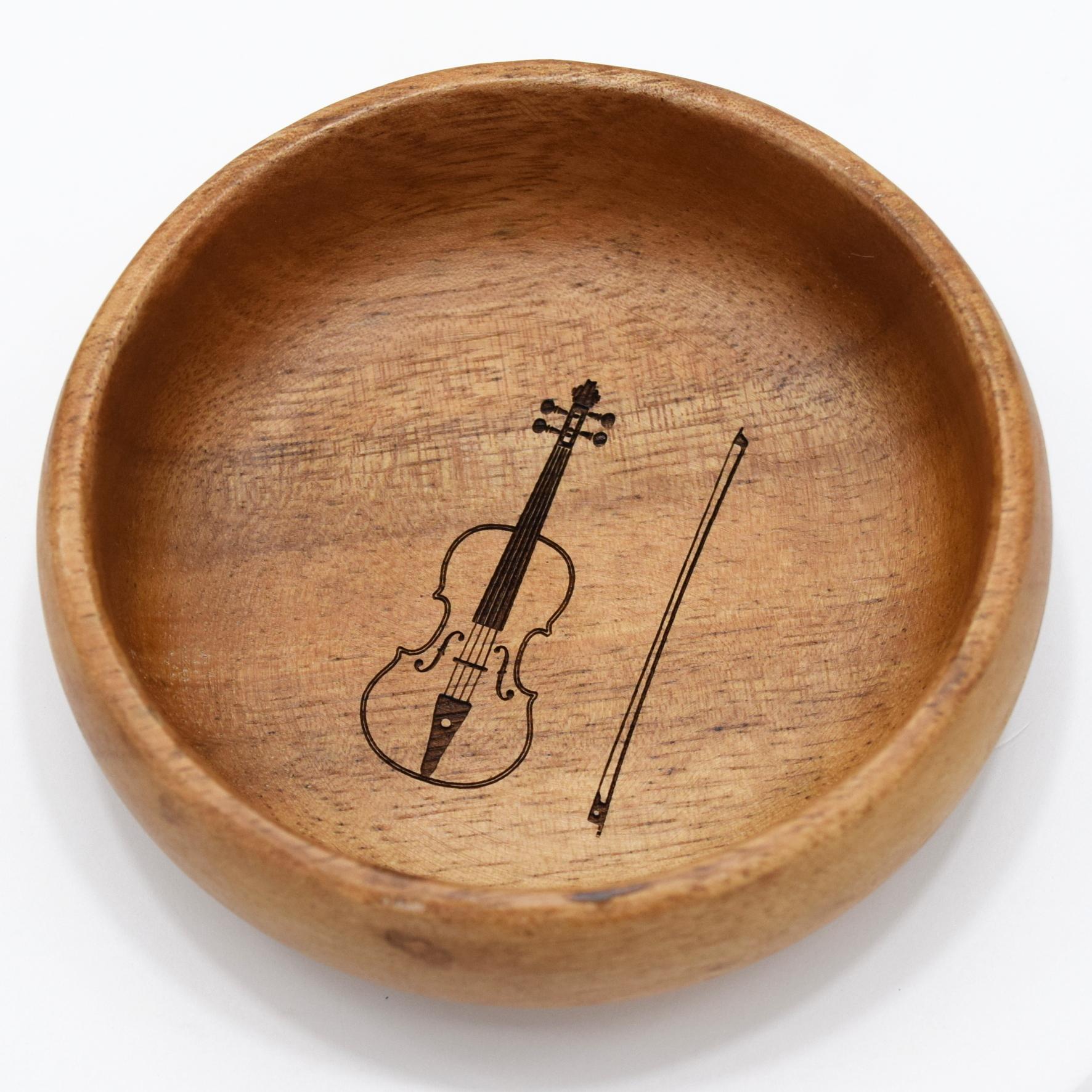 [単品]アカシアボウル『ヴァイオリン』 ~発表会記念品として♪~