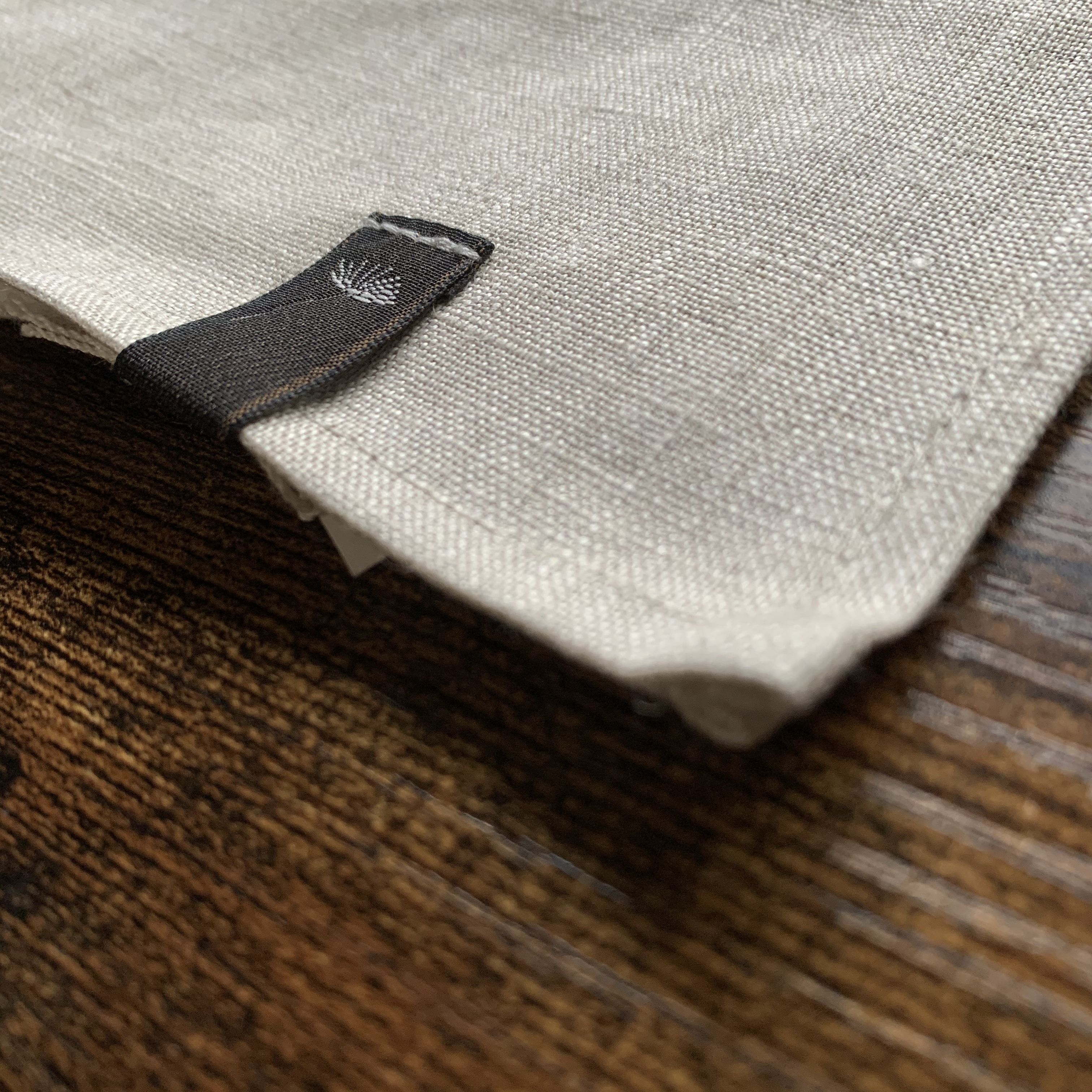 """  Latvia  Linen kitchen cloth / ラトビア リネン キッチンクロス ベージュ無地 """