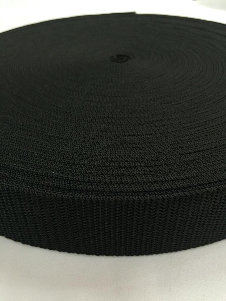 抗菌テープ PP(ポリプロピレン) 25㎜幅 黒 1.2mm厚 50m巻