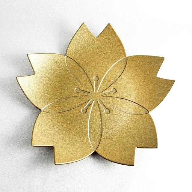 華皿 桜 160mm ゴールド