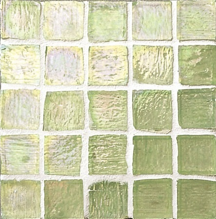 Staind Grass Mosaic【Aspen Green/Pearl】ステンドグラスモザイク【アスペングリ-ン/パ-ル】