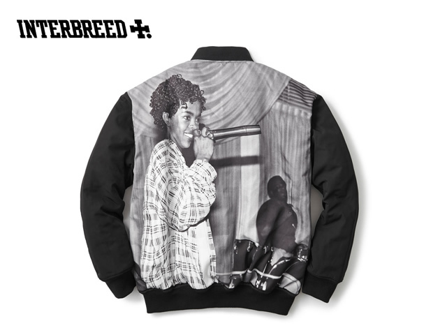INTERBREED|L.BOOGIE COLLECTION QUEEN OF RAP VARSITY JACKET