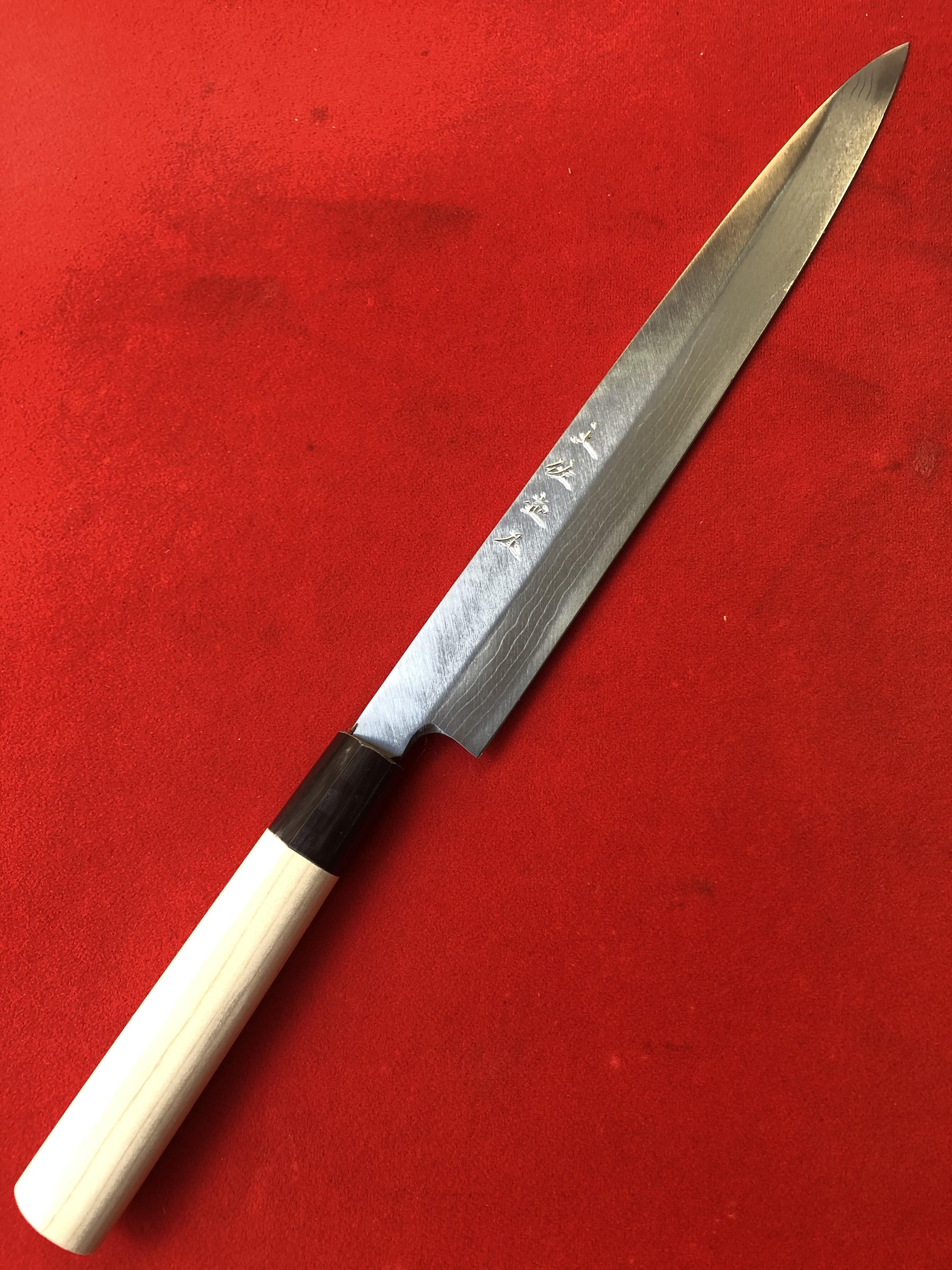 柳刃包丁 多層鋼 7寸 (安来青鋼 片刃)