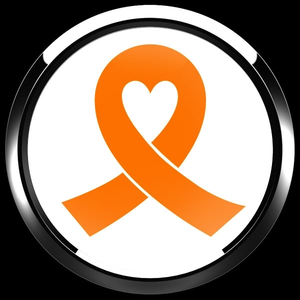 ゴーバッジ(ドーム)(CD0983 - ORANGE RIBBON WHITE (LEUKEMIA)) - 画像3